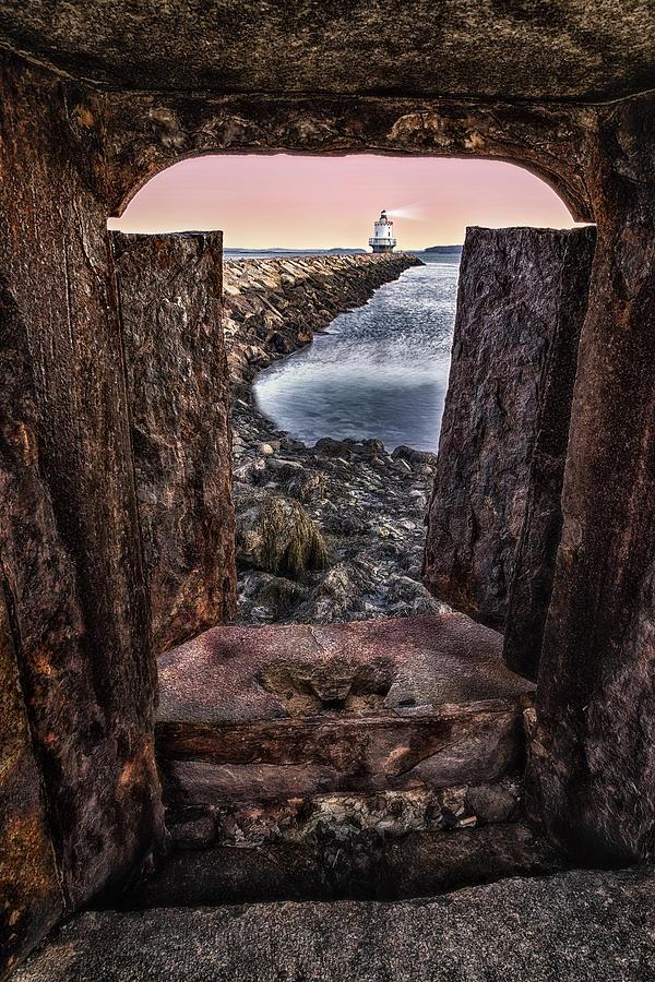 Casco Bay Photograph - Guiding Light by Susan Candelario