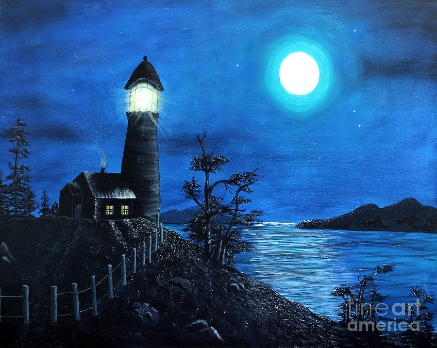 Barbara Griffin Painting - Guiding Lights by Barbara Griffin