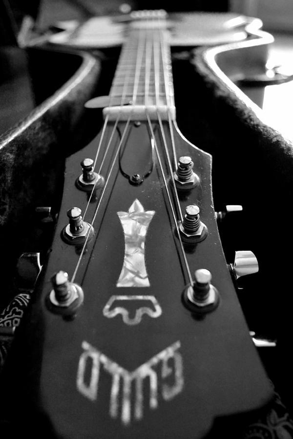 Guitar Photograph - Guild by Michelle Calkins