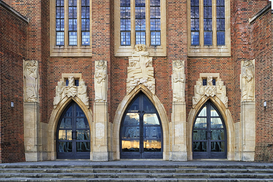 Guildford Photograph - Guildford Cathedral Doors England by Shirley Mitchell & Guildford Cathedral Doors England Photograph by Shirley Mitchell pezcame.com