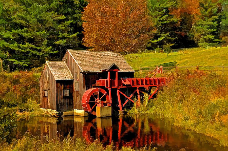 Vermont Photograph - Guildhall Grist Mill by Liz Mackney