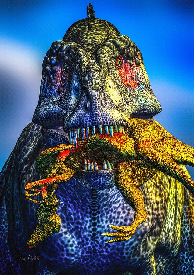 Tyrannosaurus Rex Digital Art - Guilty Pleasure by Bob Orsillo