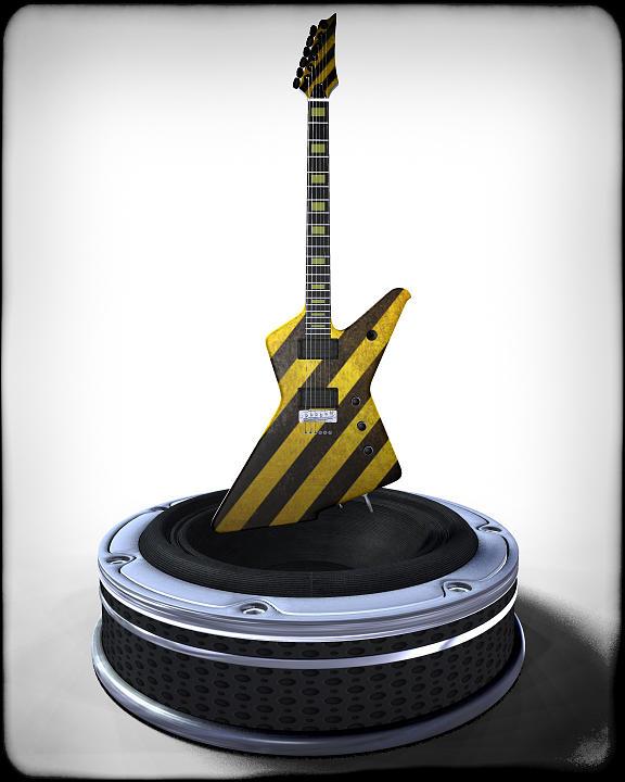 Music Digital Art - Guitar Desplay V3 by Frederico Borges