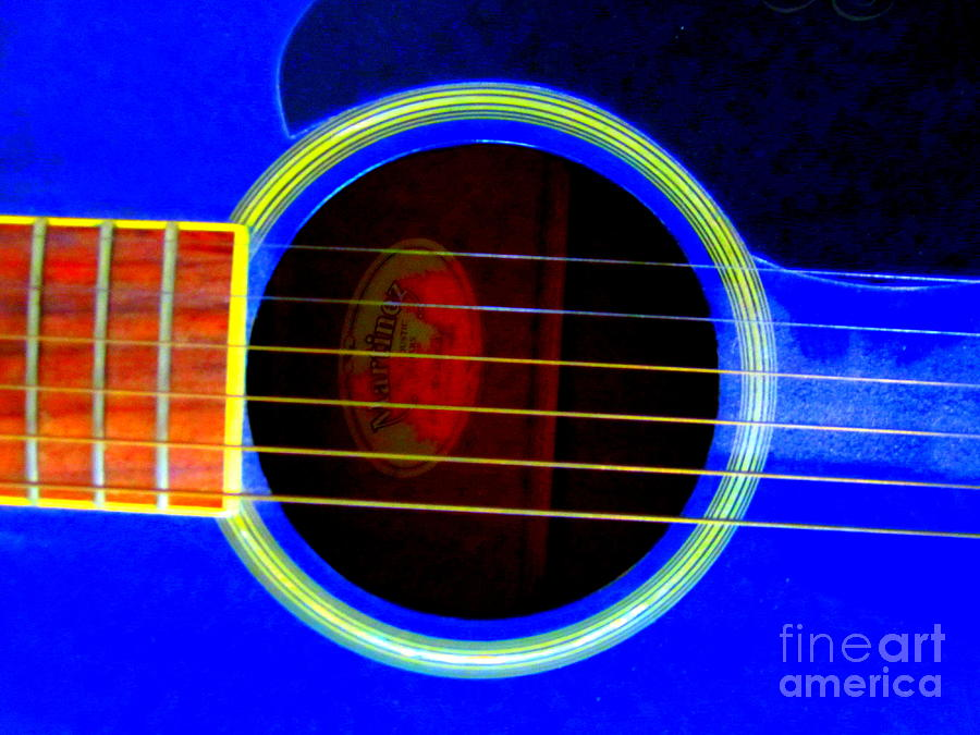 Guitar Photograph - Guitar Hole And Strings by Roberto Gagliardi