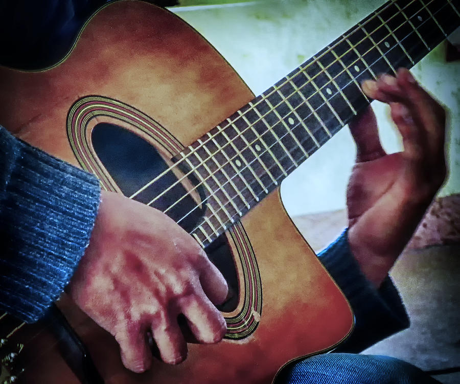 Guitar Photograph - Guitar Man by Barry Weiss