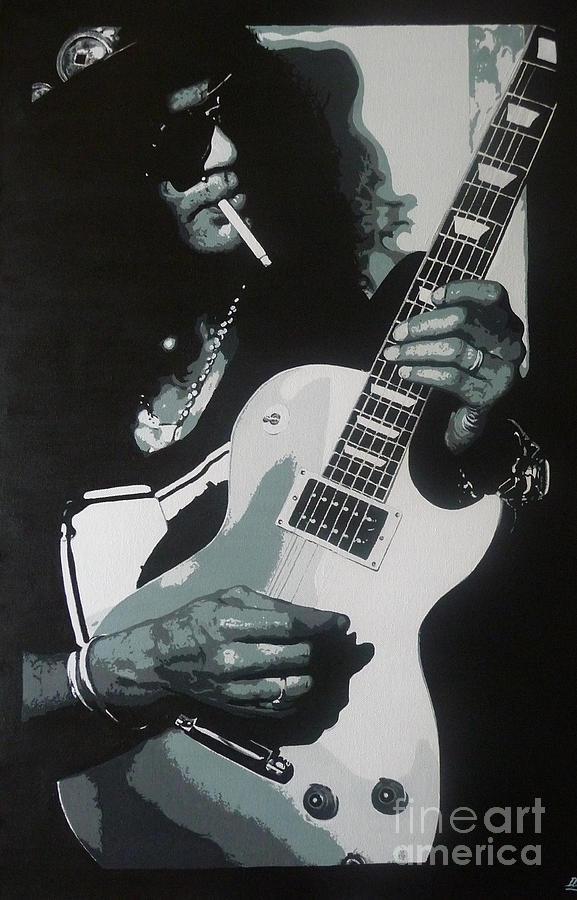 Slash Painting - Guitar Man by ID Goodall