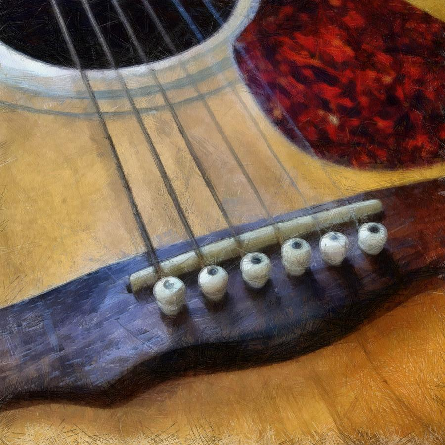 Guitar Photograph - Guitar by Michelle Calkins