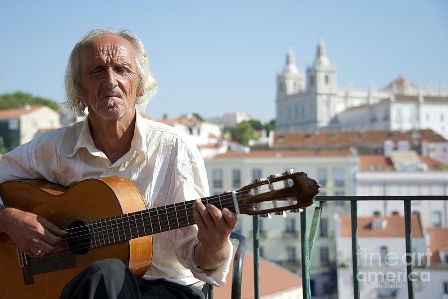 Guitar Player Lisbon by Jan Daniels