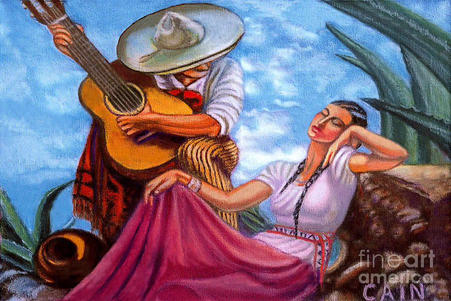 Guitar Player Painting By William Cain