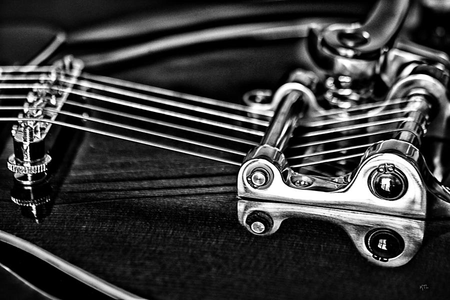 Music Photograph - Guitar Reflection by Karol Livote