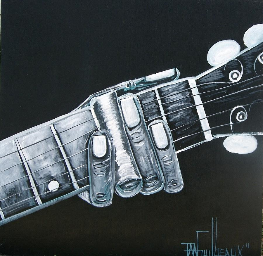 Guitar Painting - Guitar by Guilbeaux Gallery