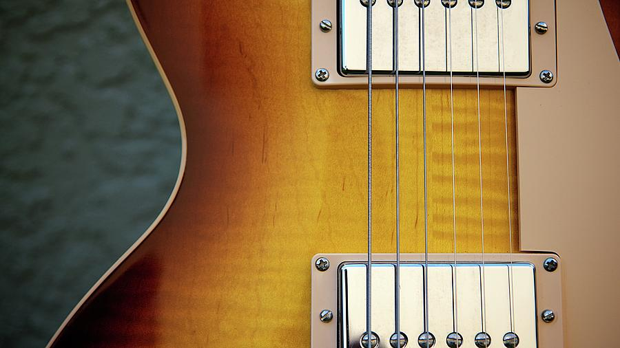 Guitar Wood Grain Photograph by David Hartwell