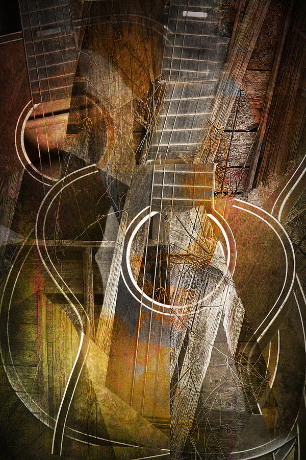 Abstract Photograph - Guitar Works by Randall Nyhof