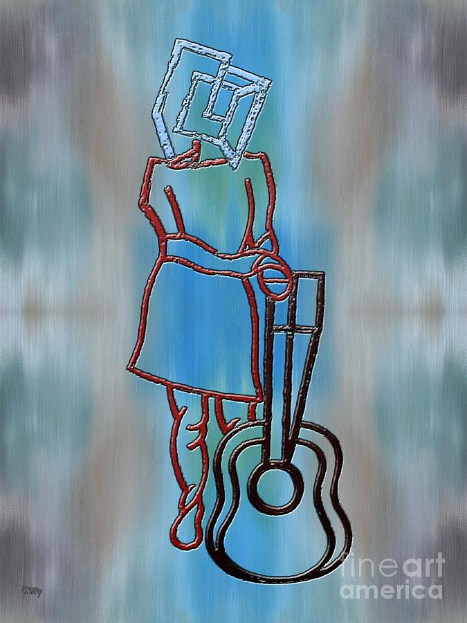 Decorative Painting - Guitarist by Patrick J Murphy