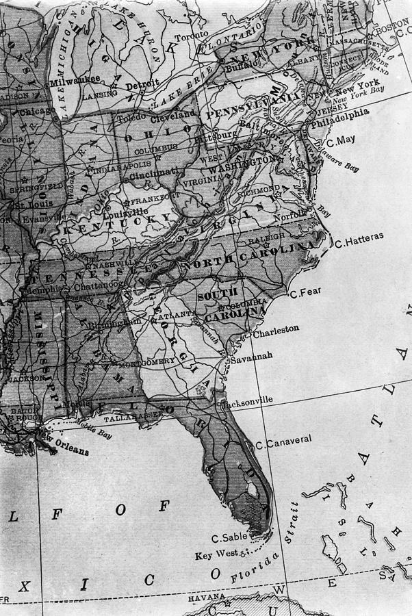 Map Of America Gulf Coast.Gulf Coast Map 1913 Photograph By Granger