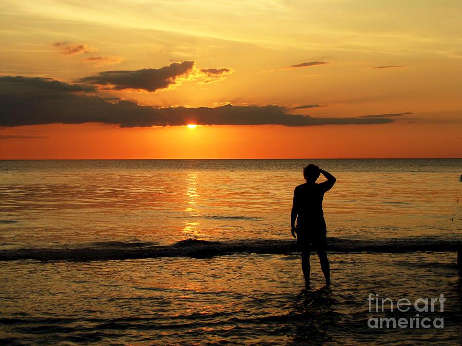 Sun Painting - Gulf Coast Sunset by Sharon Burger