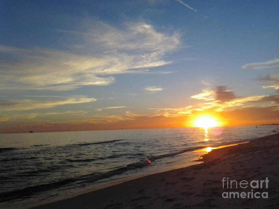 Sunset Photograph - Gulf Shores Alabama Sunset2 by LCS Art