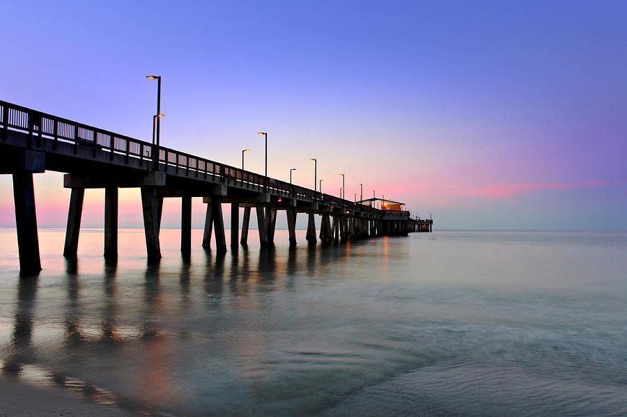 Alabama Gulf State Park Pier Photograph - Gulf State Park Pier by Lynn Jordan