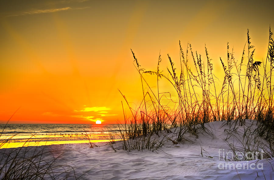 Gulf Of Mexico Photograph - Gulf Sunset by Marvin Spates