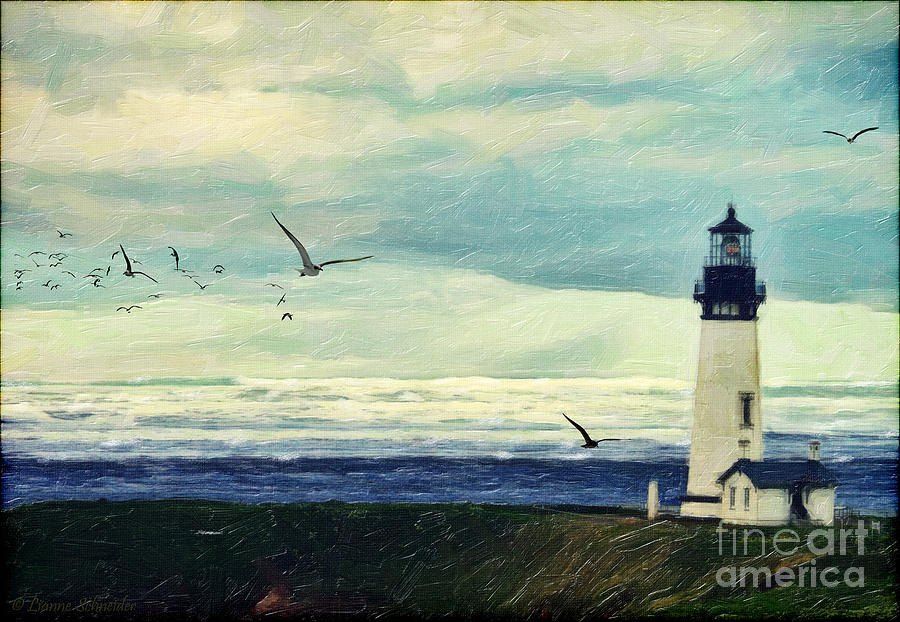 Digital Art - Gulls Way by Lianne Schneider