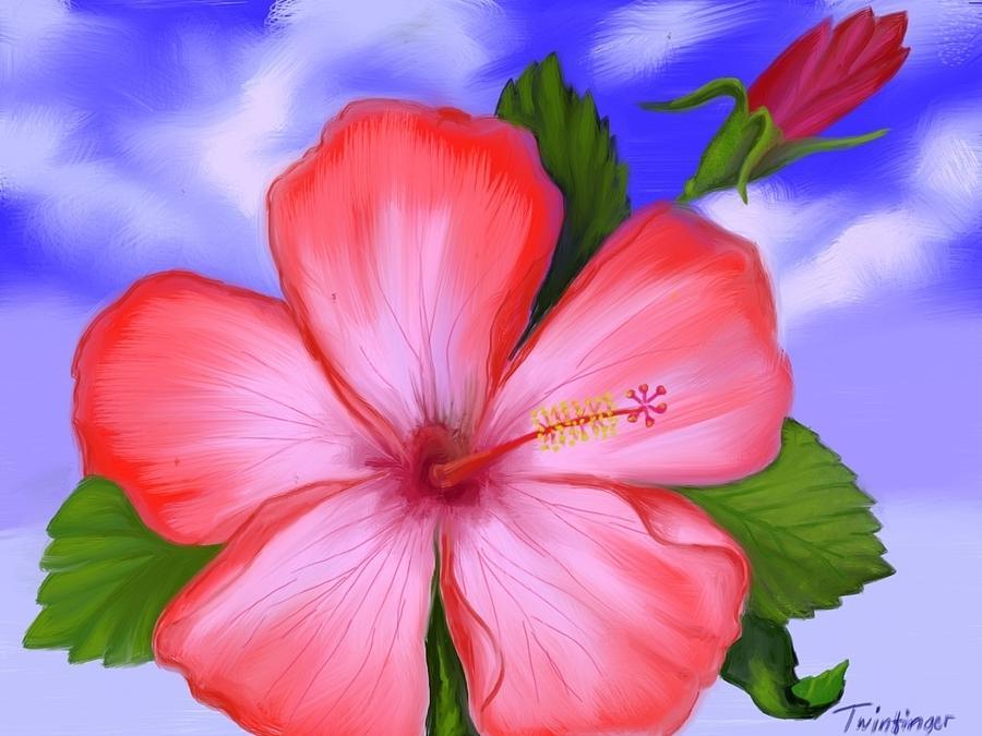 Flower Painting - Gumamela by Twinfinger