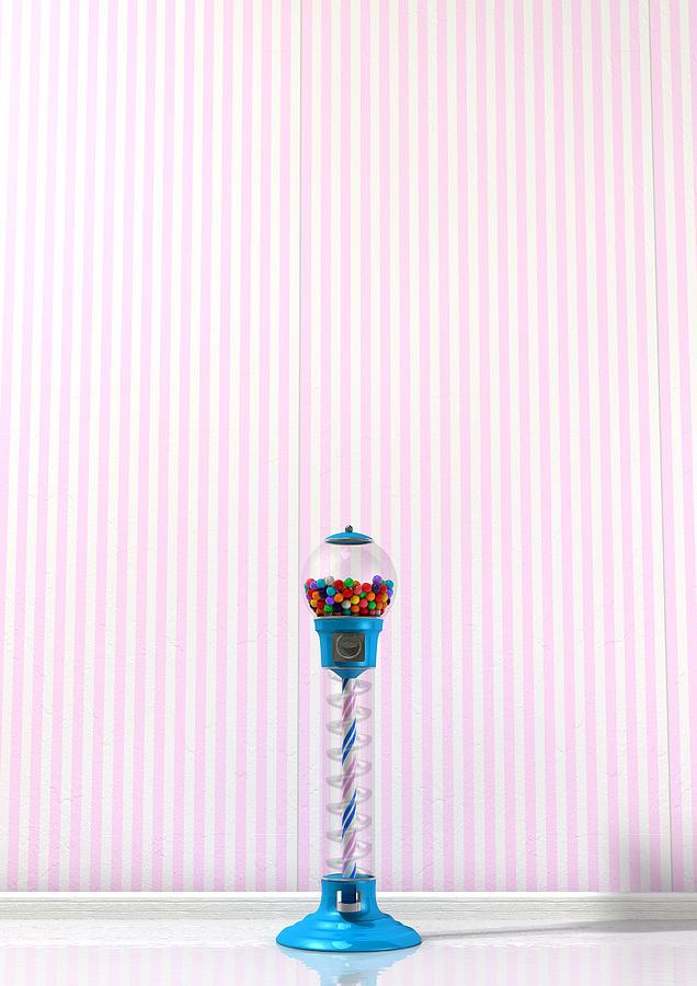 Machine Digital Art - Gumball Machine In A Candy Store by Allan Swart
