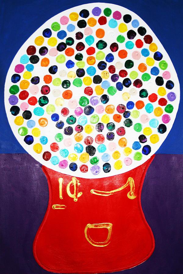 Gumball Machine Painting - Gumball Machine by Matthew Brzostoski