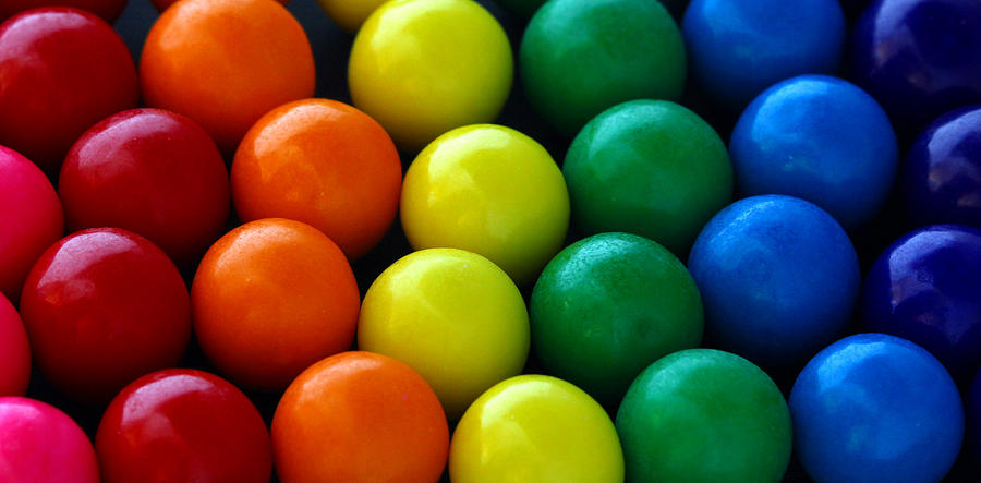 Candy Photograph - Gumballs by April Wietrecki Green