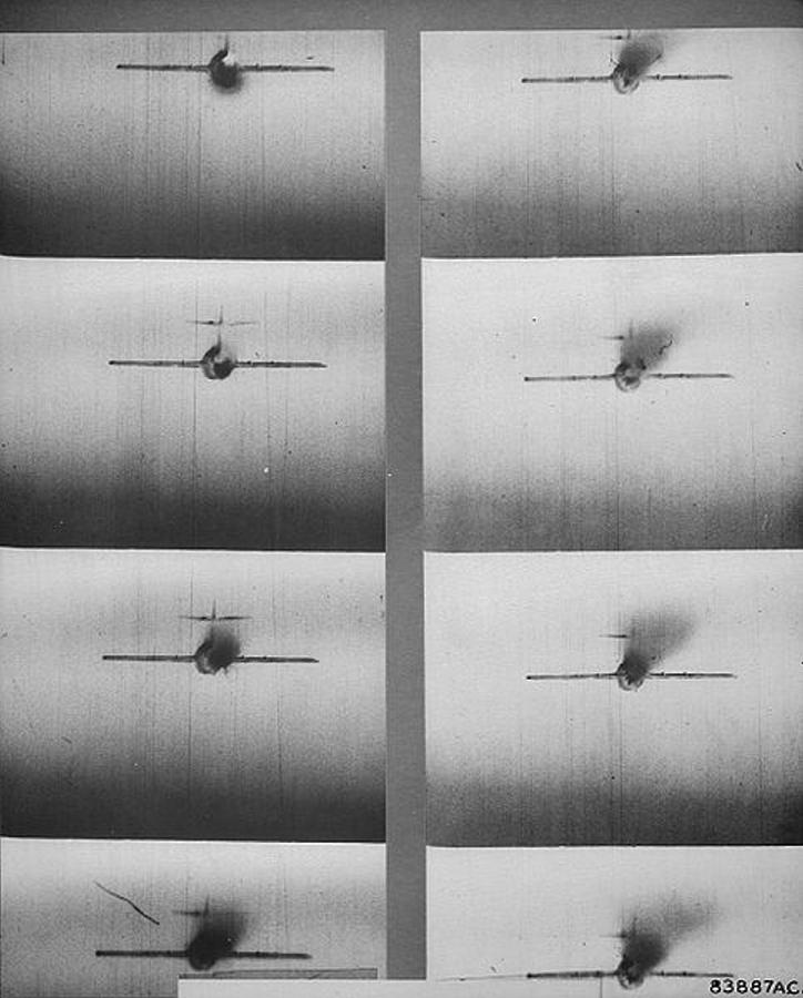 Gun Camera Photos Mig 15 Hit Over Korea Photograph By L Brown