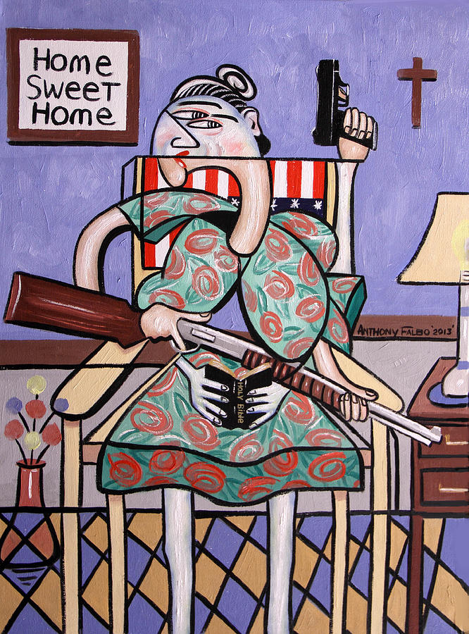 Anthony Falbo Painting - Gun Control by Anthony Falbo