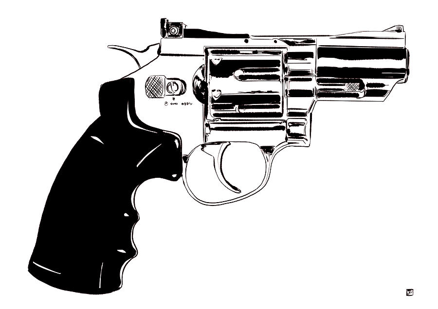 Pistol Drawing - Gun Number 27 by Giuseppe Cristiano