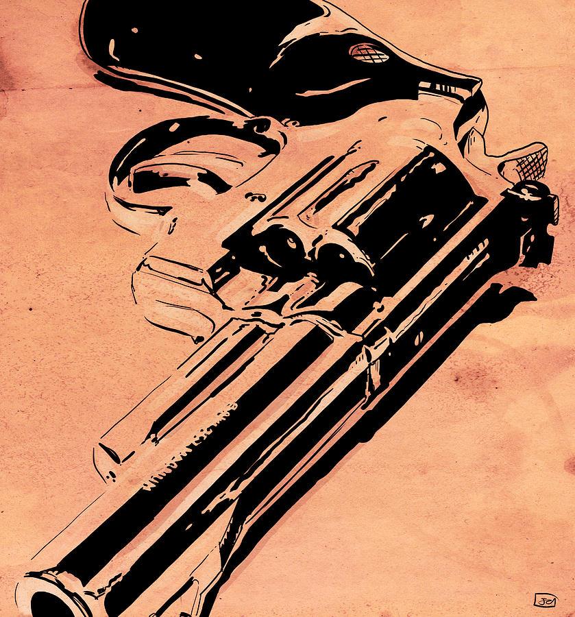 Gun Drawing - Gun Number 6 by Giuseppe Cristiano