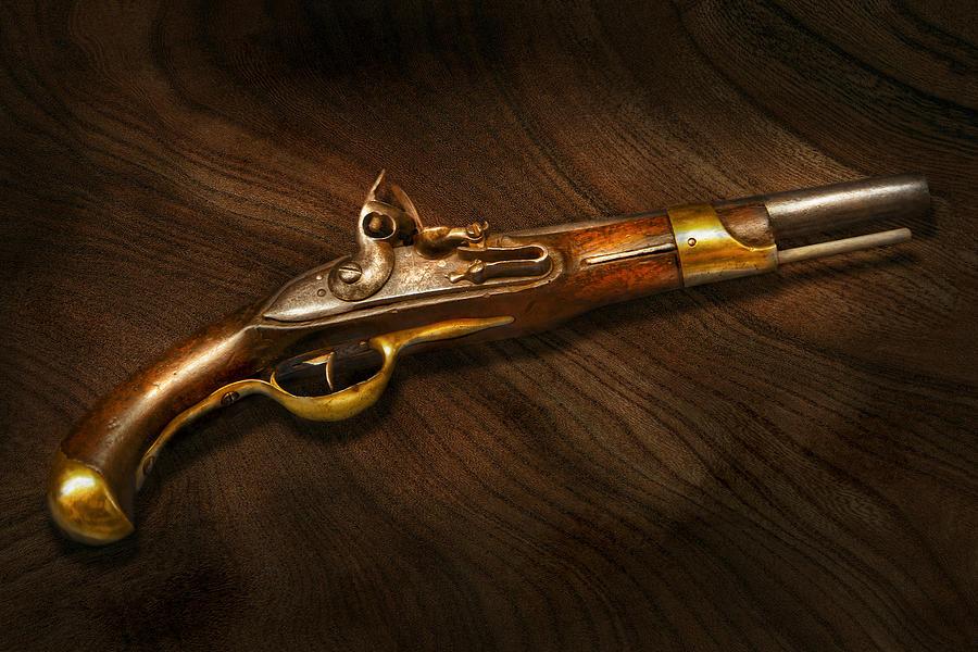 Pistol Photograph - Gun - Pistols At Dawn by Mike Savad
