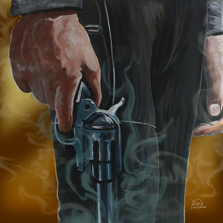 Revolver Painting - Gunfighter by Doug LaRue