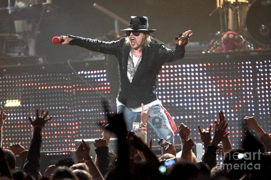 Concert Photograph - Guns N Roses by Concert Photos