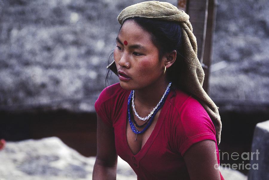 Gurung Woman Annapurna Region Nepal Photograph By Craig Lovell