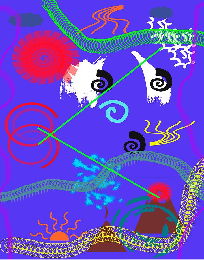 Abstract Digital Art - Gut Feeling by John Saunders