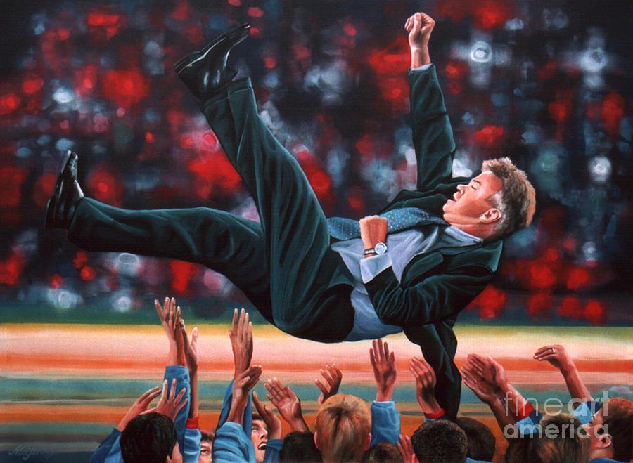 Guus Hiddink Painting - Guus Hiddink by Paul Meijering