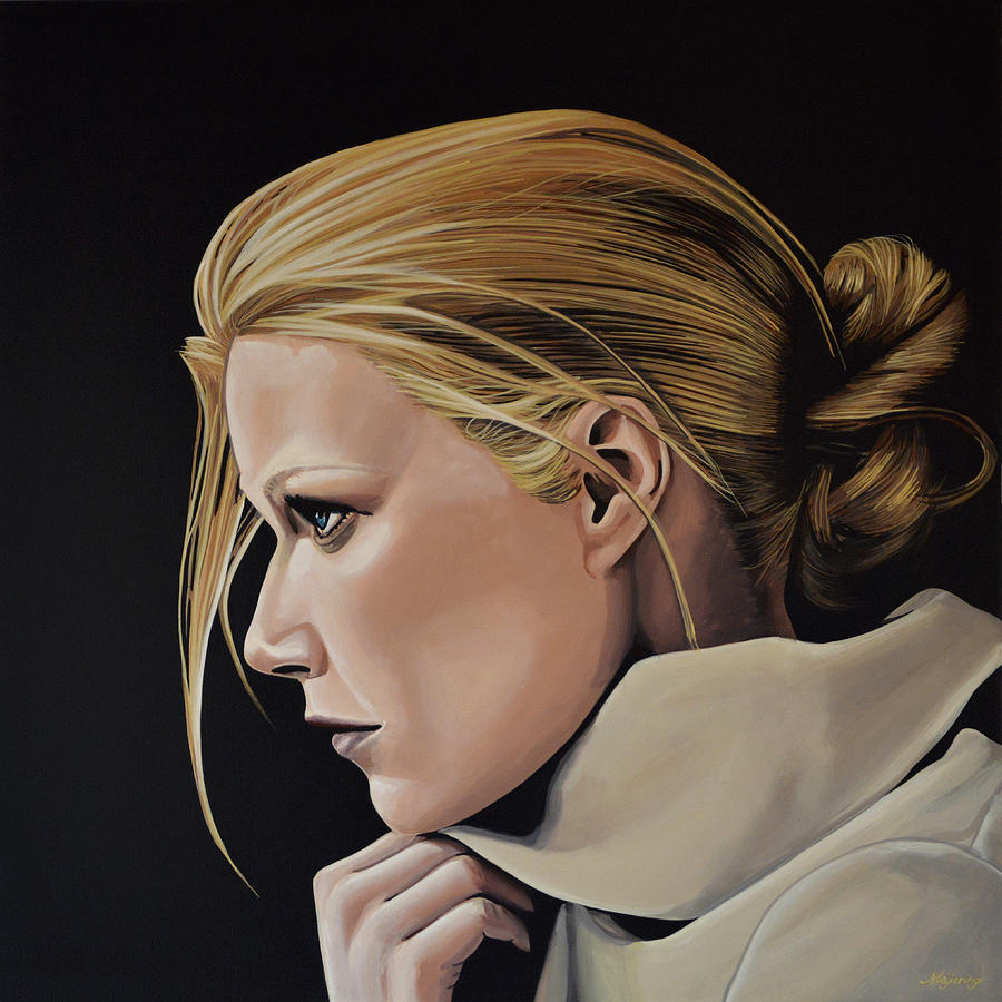 Gwyneth Paltrow Painting Painting By Paul Meijering