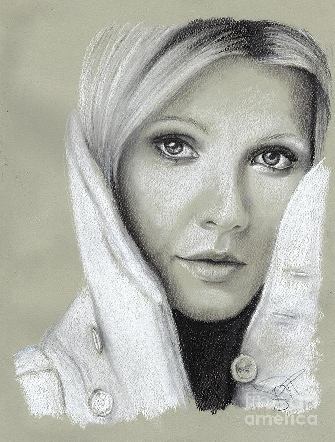 Gwyneth Paltrow Drawing - Gwyneth Paltrow by Rosalinda Markle