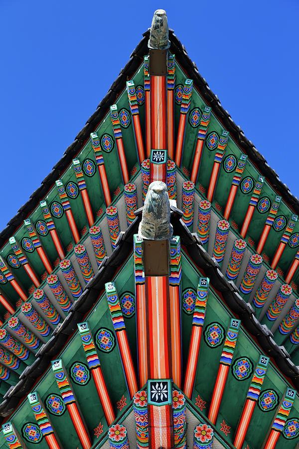 Vertical Photograph - Gyeongbokgung Palace, Palace Of Shining by Panoramic Images