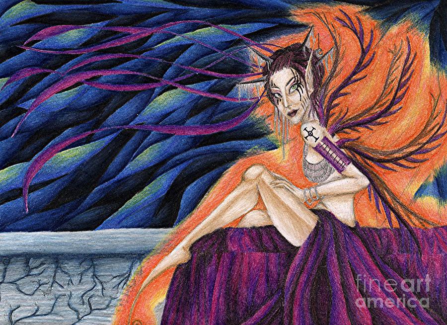 Gypsy Drawing - Gypsy Eyes by Coriander  Shea