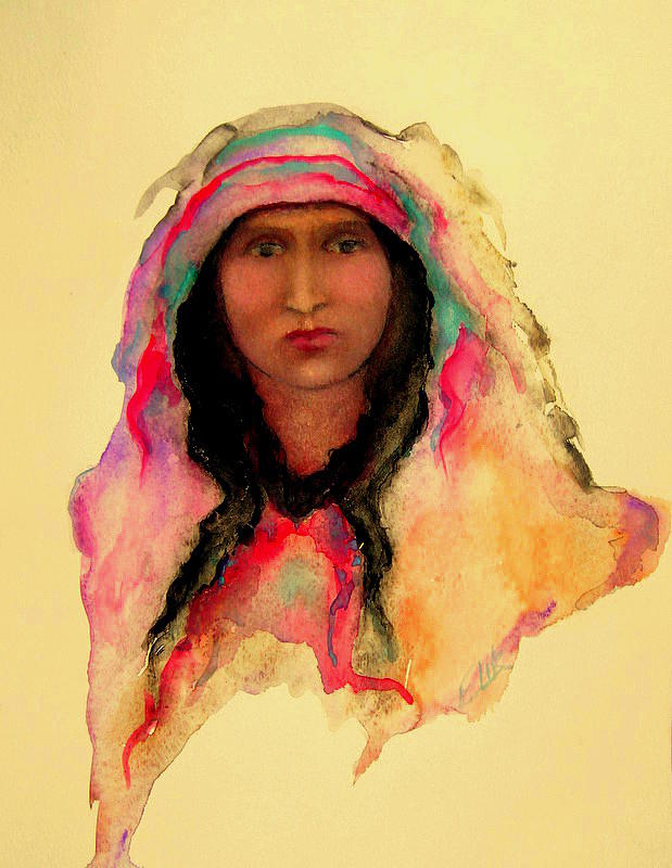 Gypsy Girl Painting by Johanna Elik