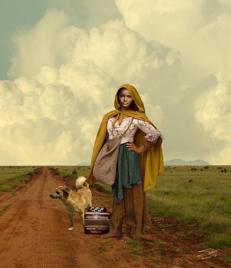 Gypsy Digital Art - Gypsy Girls Dream by Schwartz