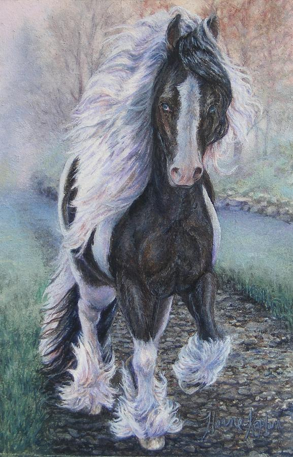 Foggy Morning Stroll Gypsy Horse  by Denise Horne-Kaplan