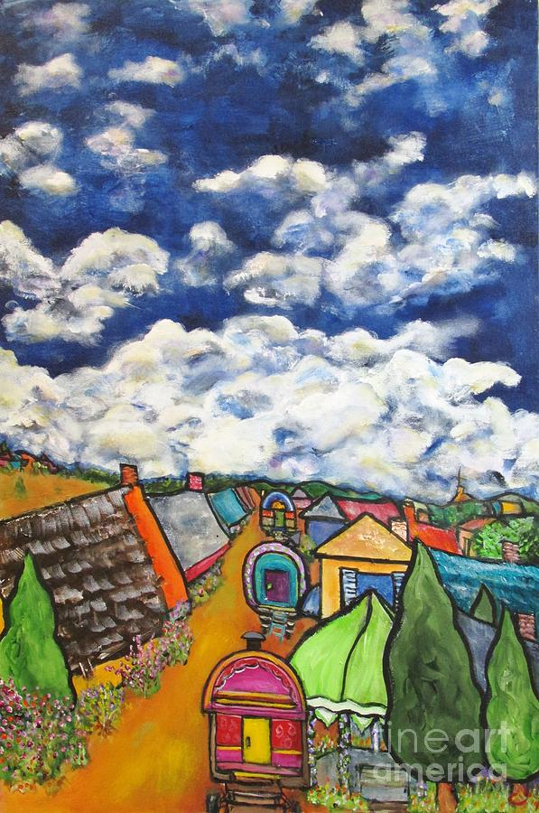 Landscape Painting - Gypsy Pilgramage Provence by Chaline Ouellet