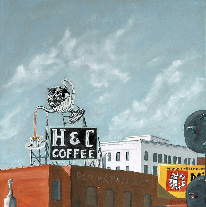 Sign Painting - H And C Coffee by Todd Bandy