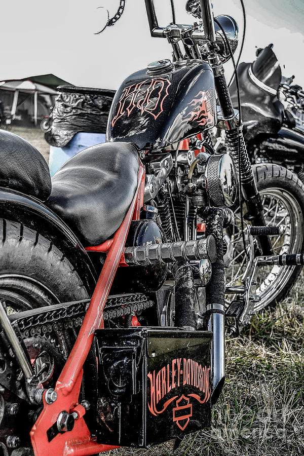 Motorcycle Photograph - H D by Christopher Biggers