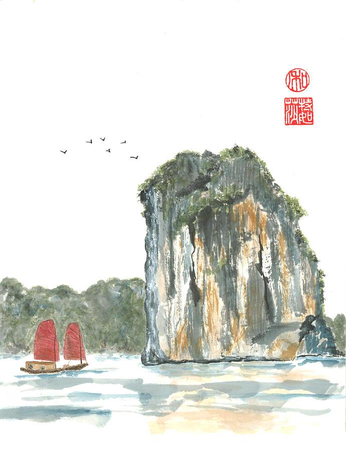 Japanese Painting - Ha Long Bay by Terri Harris