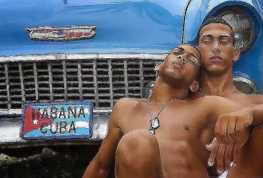 Boy Digital Art - Habana Cuba by Bob Bienpensant
